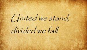 united we stand divided we fall перевод английские пословицы и поговорки
